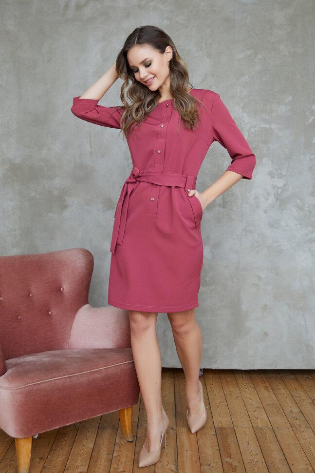 Платье 326/4, брусника