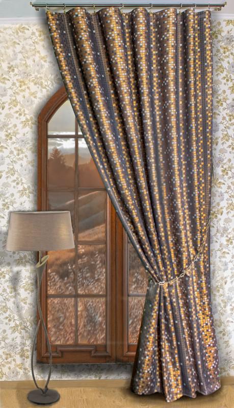 4812в-П, парча КВАДРАТЫ, цвет - бронза-шоколад, с медной люрексовой нитью, ширина 185 см