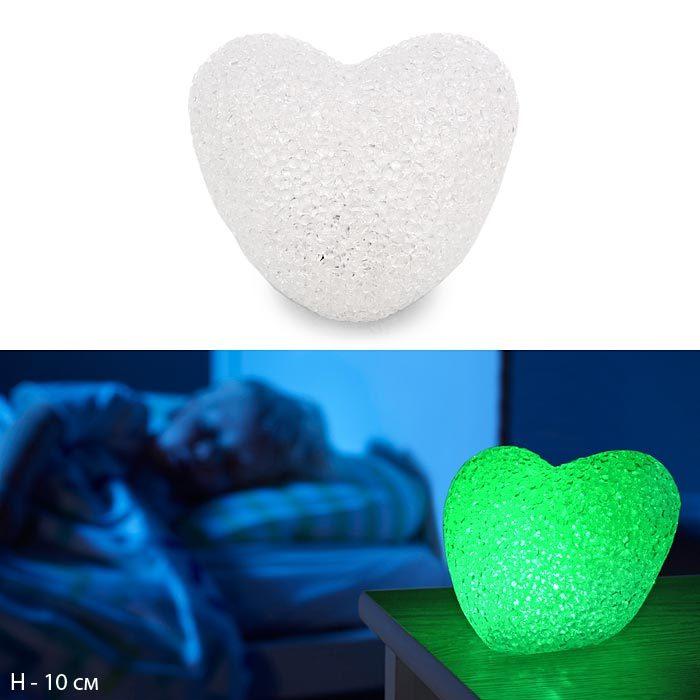 Сувенир Сердце с подсветкой  10 см / 2244-14 /уп 150/Акция