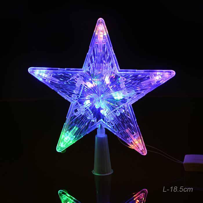 Гирлянда звезда на вершину елки / GR289 / 30L LED /уп 100/ мягкая упаковка