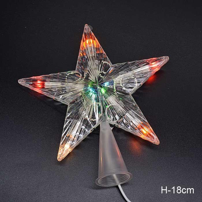 Гирлянда звезда на вершину елки / 10L LED /уп 100/ мягкая упаковка