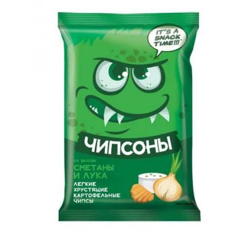 «Чипсоны», чипсы со вкусом сметаны и лука, 40 гр. Яшкино
