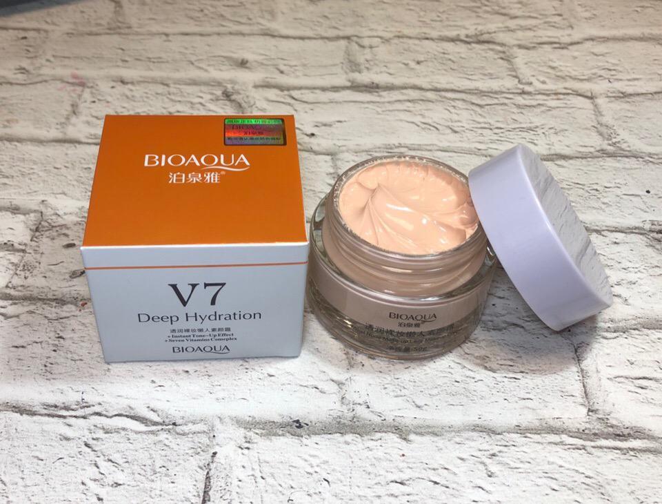 Крем для лица с тональным эфектом  V7 DEEP HYDRATION ,BioAqua 50гр