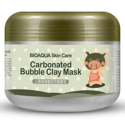 Уценка Маска пенная для лица  Carbonated Bubble Clay Mask BIOAQUA, 100гр(протекшая внутри коробки , замята коробка)