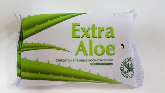 Салфетки влажные EXTRA ALOE Освежающие, 15 шт