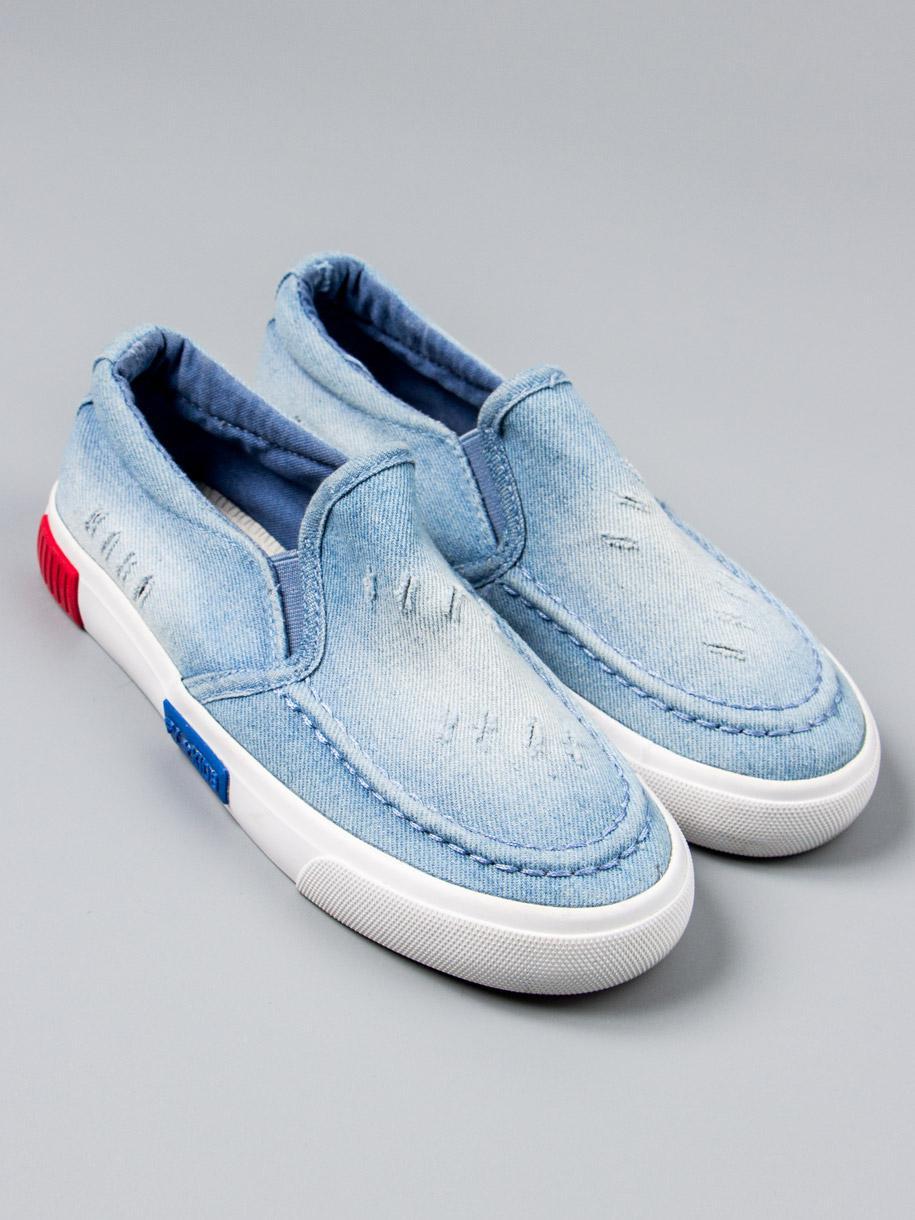 Кеды джинсовые, голубой