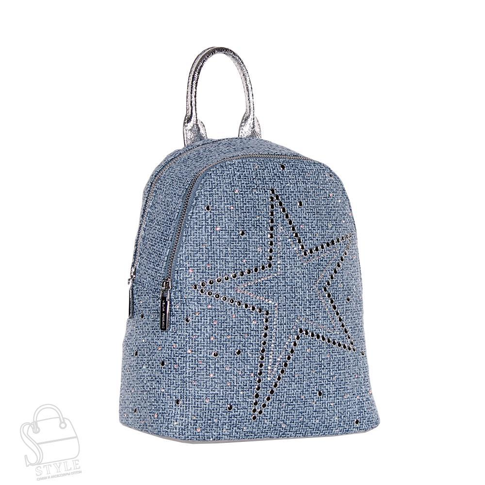 Рюкзак женский текстильный 571726-5 blue Velina Fabbiano/30
